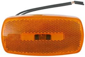 trailer clearance or side marker light w reflex reflector