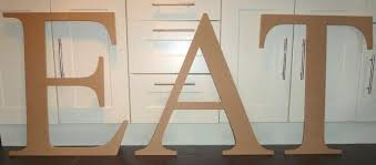 mdf wooden letters or numbers 18mm thick