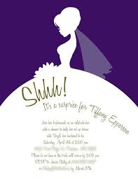 bridal invitation bridal shower invitations purple clean design interesting