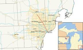 Detroit Zip Codes Map by Detroit Suburb Map Detroit Municipalities Map Michigan Usa