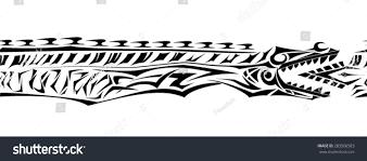 jormungand tribal bracelet stock vector 283506503