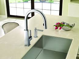 Touch Free Kitchen Faucets by Why Touch Your Kitchen Faucet When You Don U0027t Have To Moen Expands