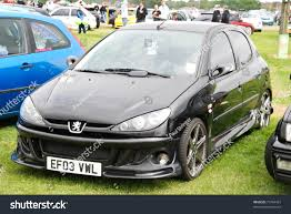peugeot 206 2008 peterborough england may 24 black peugeot stock photo 73764367