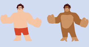 wreck ralph swimsuit gorilla dinalfos5 deviantart
