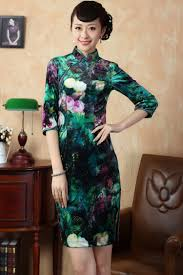 green chinese silk dresses dress images