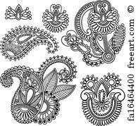 doodle vectors free free print of henna doodle border designs vector