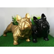 animal planter urban attitude french bulldog animal planters