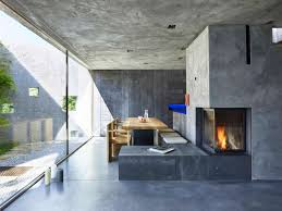 Concrete Interior Design by Concrete House Archives Homedsgn