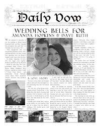 newspaper wedding programs wedding invite makemynewspaper