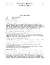 Maintenance Sample Resume General Maintenance Technician Resume Sample Resume