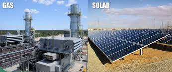 a solar power plant vs a natural gas power plant capital cost