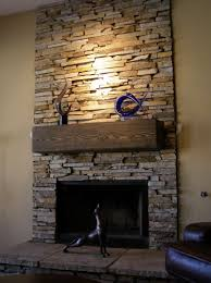 stone facade over brick fireplace home design ideas