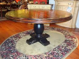 Reclaimed Round Dining Table by French Country 60 Round Dining Table Reclaimed Top Black
