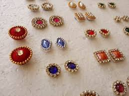 make stud earrings of earring studs patches at home tutorial
