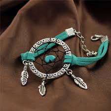 s day charm bracelet fashion indian style silver catcher charm bracelet for women