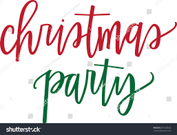 christmas party christmas party lettering stock vector 301320332