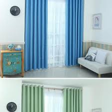 Navy Blue Blackout Curtains Top Finel Lucky Star Design 100 Polyester Modern Window Curtain