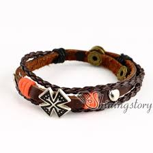 leather bracelet with charm images Malta cross wholesale leather bracelets leather bracelets for jpg