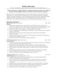 resume operations management resume