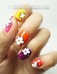 15 easy simple spring flower nail art designs trends ideas 2013 4