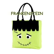 personalized halloween trick or treat totes monogrammed halloween