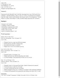 cook resume exles exle of cook resume shalomhouse us