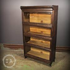 Metal Lawyers Bookcase Antique 4 Stack Humphrey Barrister Book Cabinet Lawyer U0027s Bookcase