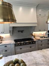 gray and white cabinets in kitchen remodelaholic grey and white kitchen cabinet ideas