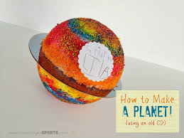 teaching tuesday how to make a planet with an old cd kristen
