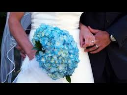 blue carnations blue carnation wedding bouquet