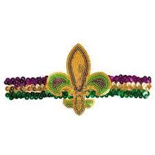 mardi gras headbands gras sequin headband with fleur de lis design