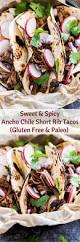 sweet and spicy ancho chile short rib tacos recipe runner