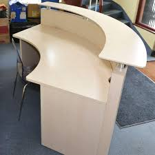 Rounded Reception Desk by Half Circle Reception Desks For 3 People Reception Furniture For