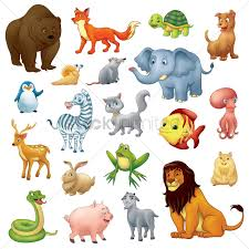 collection of cartoon animals vector image 1803445 stockunlimited