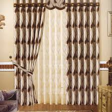 modern curtains blackout brown patterned jacquard