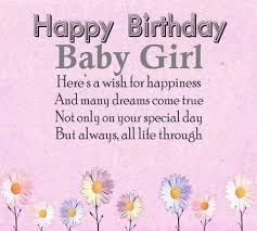 baby girl birthday happy birthday quotes for baby girl wishesgreeting