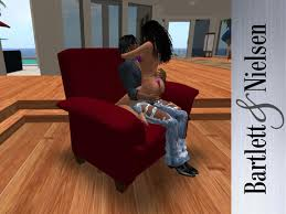 second life marketplace modern recliner chair 8 0 red tuft