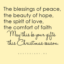 the blessings of peace the beauty of hope the spirit of