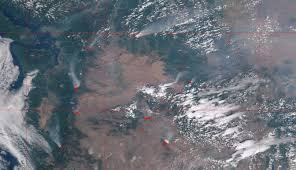 Active Wildfire Map by Viirs Active Fire
