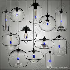 discount italian design retro glass bottle chandelier edison bulb