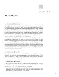 Research Objective Statement Chapter 1 Introduction Recommended Construction Specifications