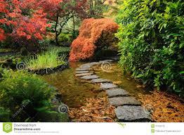 japanese garden pond stock photo image 17340770