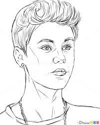 how to draw justin bieber celebrities