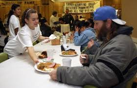 olympic high volunteers serve up cheer along with free meals