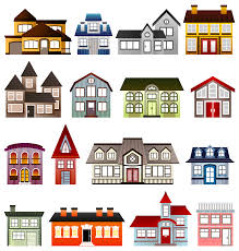 free stock photo of simple houses vector clipart public domain