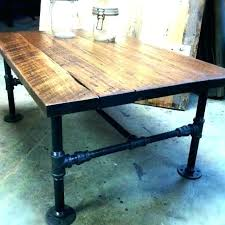 wood and pipe table industrial pipe furniture industrial pipe table legs pipe desk legs