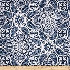 magnolia home fashions tibi navy from fabricdotcom screen printed