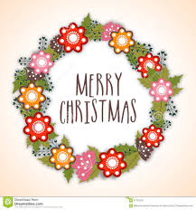 beautiful greeting card merry christmas stock photo image