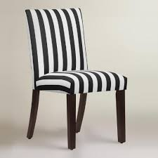 Black And White Striped Dining Chair And White Stripe Dining Chair