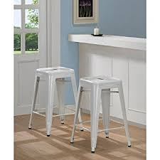 White Metal Bar Stool Tabouret 3503 24 24 Inch White Metal Counter Stools